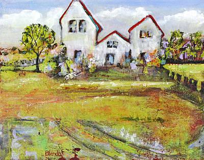 Landscape Art Scenic Fields Poster by Blenda Studio