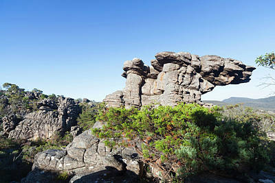 Landscape In The Grampians National Poster by Martin Zwick