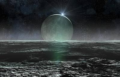 Landscape Of Pluto Poster