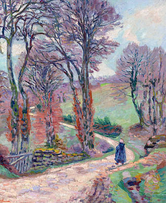 Landscape Of The Creuse Poster by Jean-Baptiste Armand Guillaumin