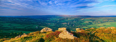 Landscape Viewed From Honeybag Tor Poster by Panoramic Images