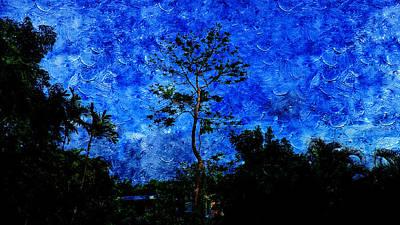 Landscapes In Blue Sky Poster