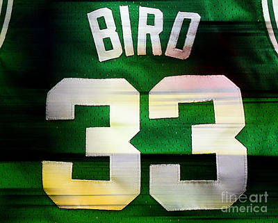 Larry Bird Poster by Marvin Blaine