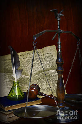 Lawyer - Scales Of Justice Poster by Paul Ward