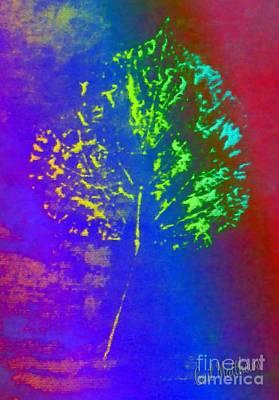 Leaf Imprint  Poster by Gail Matthews