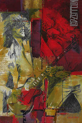 Led Zeppelin  Poster by Corporate Art Task Force