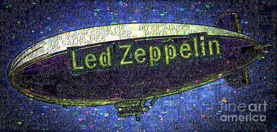 Led Zeppelin Poster by RJ Aguilar