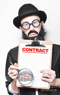 Legal Advisor Warning About Signing House Contract Poster
