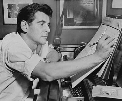 Leonard Bernstein Poster by Mountain Dreams