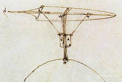 Leonardos Kite Glider Poster by Sheila Terry