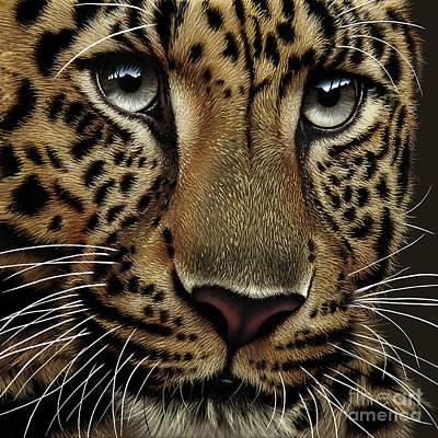 Leopard Poster by Jurek Zamoyski