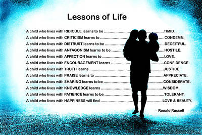 Lessons Of Life Poster by Mike Flynn