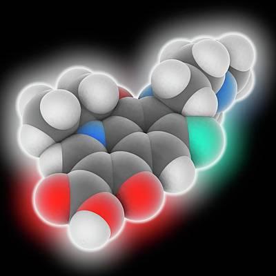 Levofloxacin Drug Molecule Poster