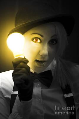 Light Bulb Lady Poster