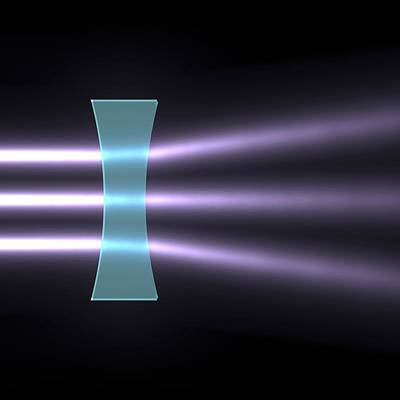 Light Refraction With Biconcave Lens Poster