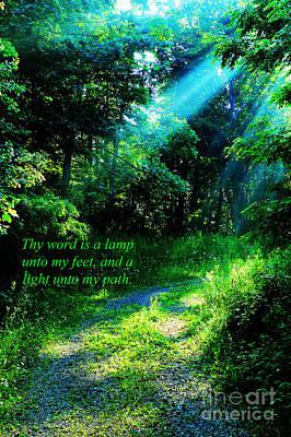 Light Unto My Path Poster by Thomas R Fletcher