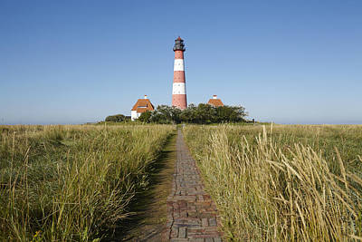 Lighthouse Westerhever And Stockenstieg Poster