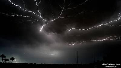 Lightning 2 Poster by Richard Zentner