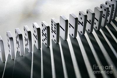 Lined Up Dominoes Poster by Victor de Schwanberg