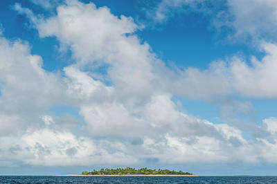Little Island With A White Sand Beach Poster by Michael Runkel