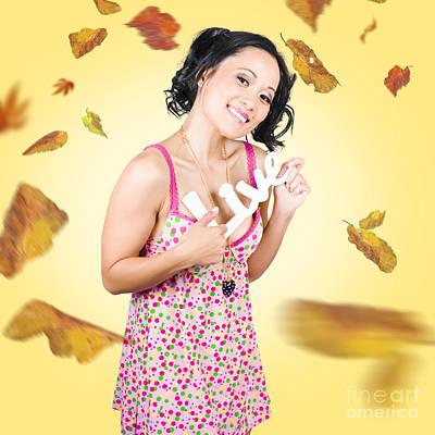 Live Love Life. Autumn Lifestyle Poster