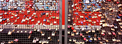Locks Of Love On A Fence, Hohenzollern Poster