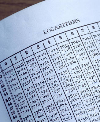 Logarithm Table Poster by Sheila Terry