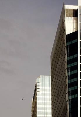 London Docklands Skyscrapers Poster by Carlos Dominguez