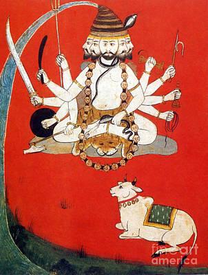 Lord Shiva With Sacred Bull Nandi Poster