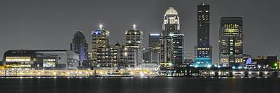 Louisville After Dark Poster by Frozen in Time Fine Art Photography