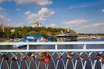 Love Padlocks At The Town Park, Volga Poster by Panoramic Images