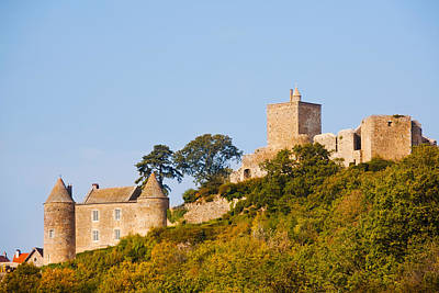 Low Angle View Of A Castle On A Hill Poster
