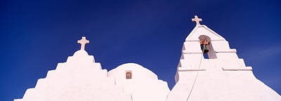 Low Angle View Of A Church, Mykonos Poster