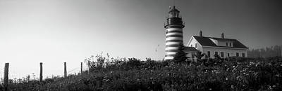 Low Angle View Of A Lighthouse, West Poster by Panoramic Images