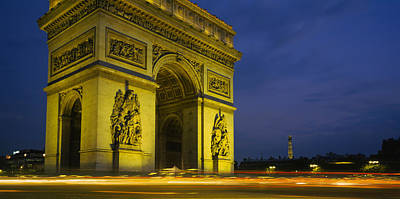 Low Angle View Of A Monument, Arc De Poster