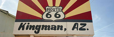 Low Angle View Of A Road Sign, Route Poster by Panoramic Images