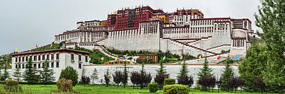 Low Angle View Of The Potala Palace Poster