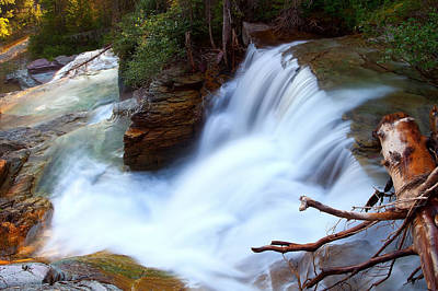 Poster featuring the photograph Lower Virginia Cascades by Aaron Whittemore