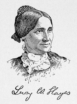 Lucy Hayes (1831-1889) Poster by Granger