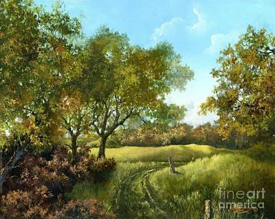 Poster featuring the painting Luray Pasture by Lynne Wright