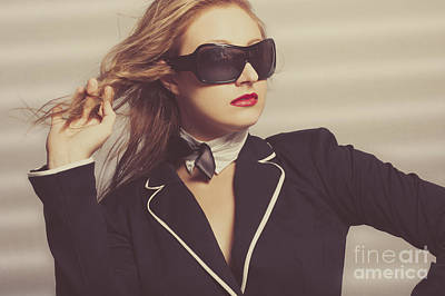 Luxury Fashion Girl In Exclusive Sunglasses Poster