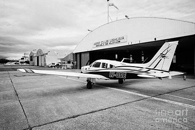 lv-ode piper pa-28 archer light aircraft aeroclub Ushuaia Argentina Poster by Joe Fox