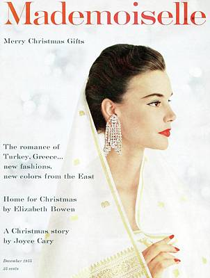 Mademoiselle Cover Featuring A Model Wearing Poster by Mark Shaw