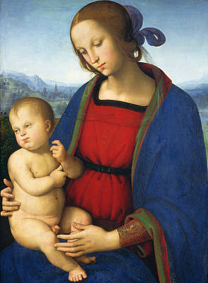 Madonna And Child Poster by Pietro Perugino