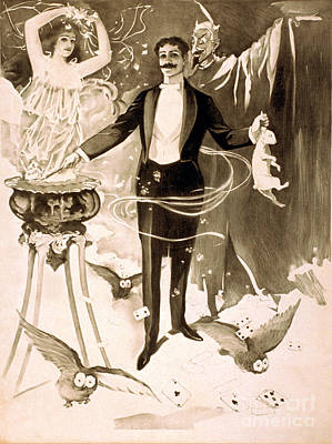 Magician, 1899 Poster by Photo Researchers