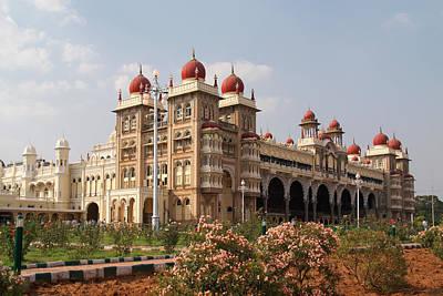 Maharaja's Palace And Garden India Mysore Poster by Carol Ailles