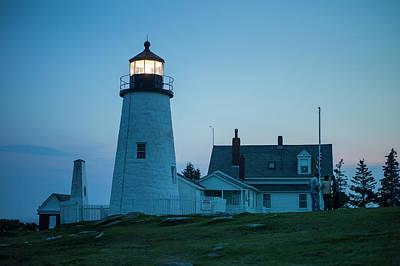 Maine, Pemaquid Point, Pemaquid Point Poster by Walter Bibikow