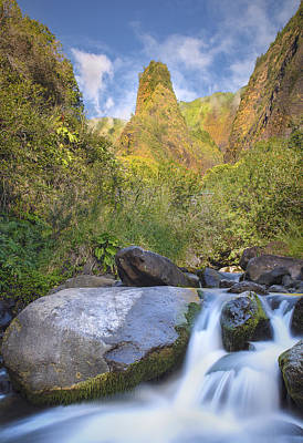 Majestic Iao Needle Poster by Hawaii  Fine Art Photography