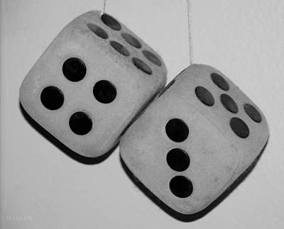 Mama's Dusty Dice In Black And White Poster by Rob Hans