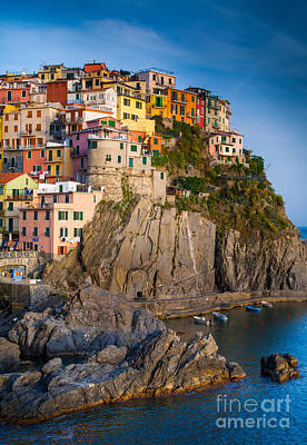 Manarola Afternoon Poster by Inge Johnsson
